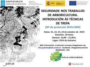 2019C009 SEGURIDADE NOS TRABALLOS DE ARBORICULTURA:INTRODUCIÓN ÁS TÉCNICAS DE TREPA.