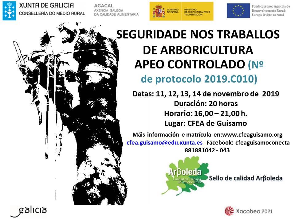2019C010 SEGURIDADE NOS TRABALLOS DE ARBORICULTURA. APEO CONTROLADO